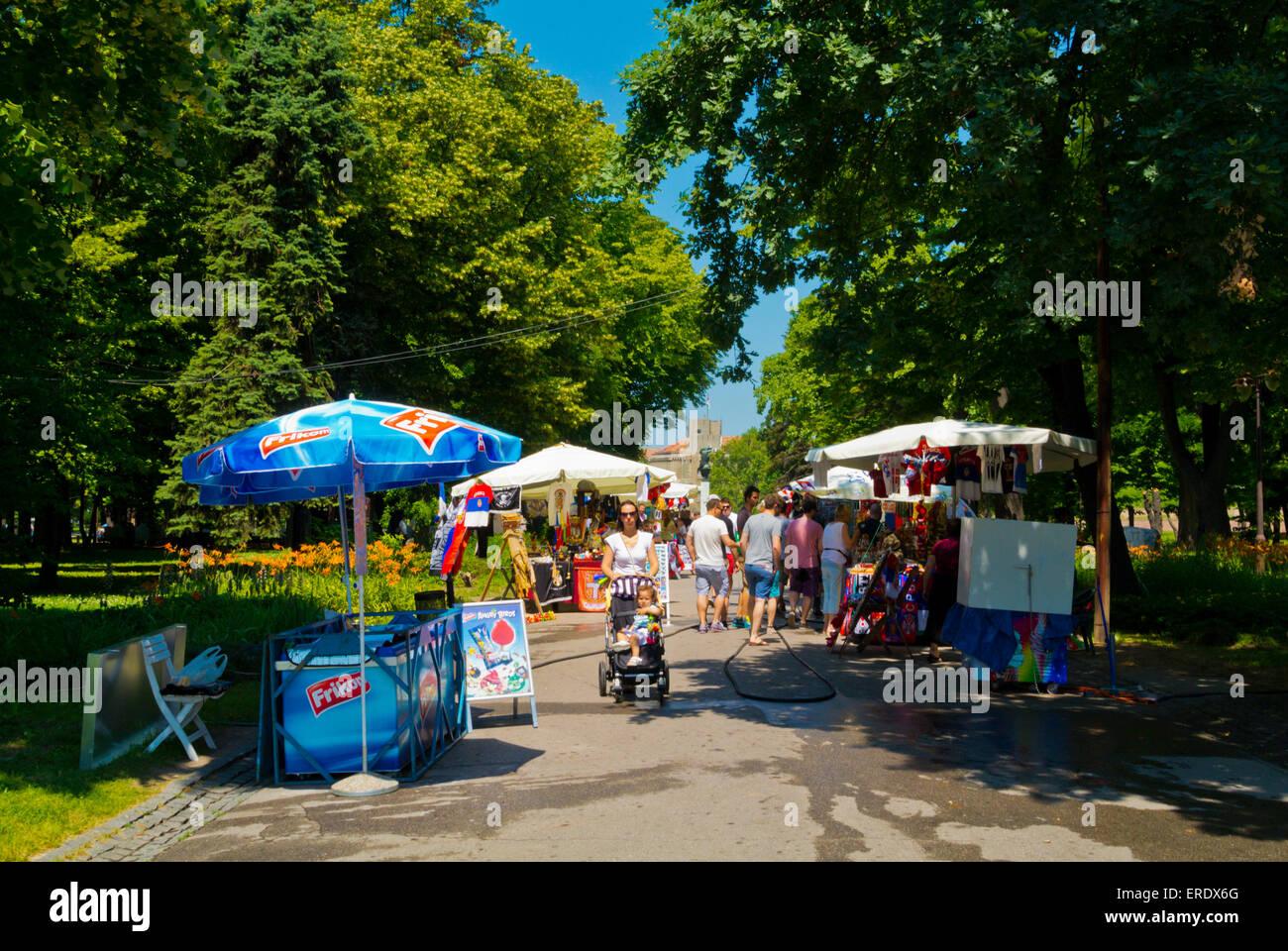Kalemegdan fortress park, Belgrade, Serbia, Southeastern Europe - Stock Image