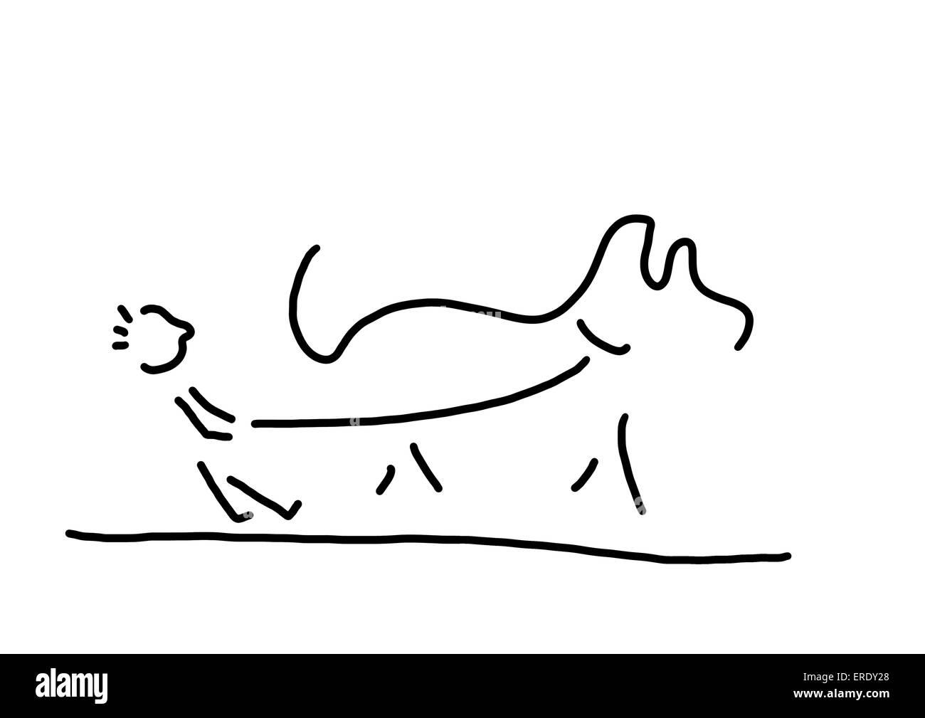 child-and-dog Stock Photo