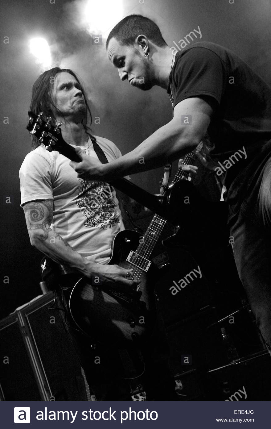 Myles Kennedy and Mark Tremonti of Alter Bridge performing in Bristol 25 January 2008 - Stock Image