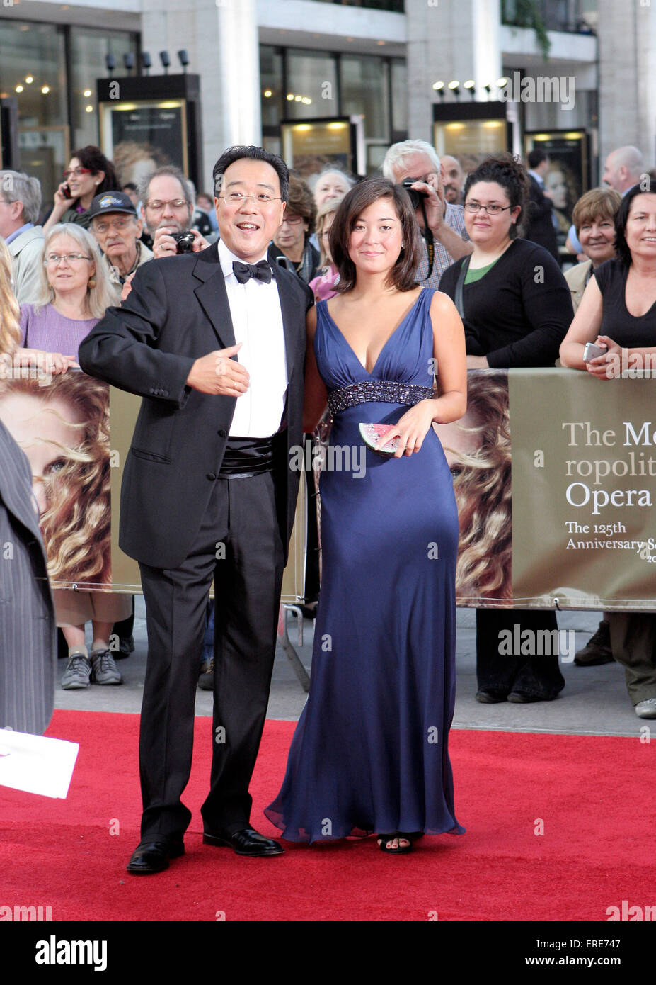 Yo-Yo Ma with Emily Ma at the Metropolitan Opera 125th Anniversary