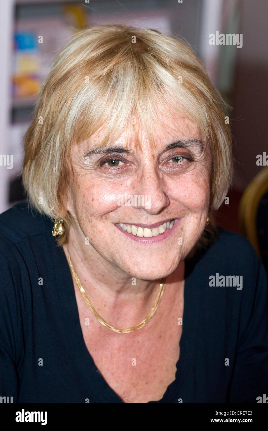 Lisa Jardine CBE at the Cheltenham Literary Festival, Gloucestershire, England, 18 October 2008. LJ: British historian, - Stock Image