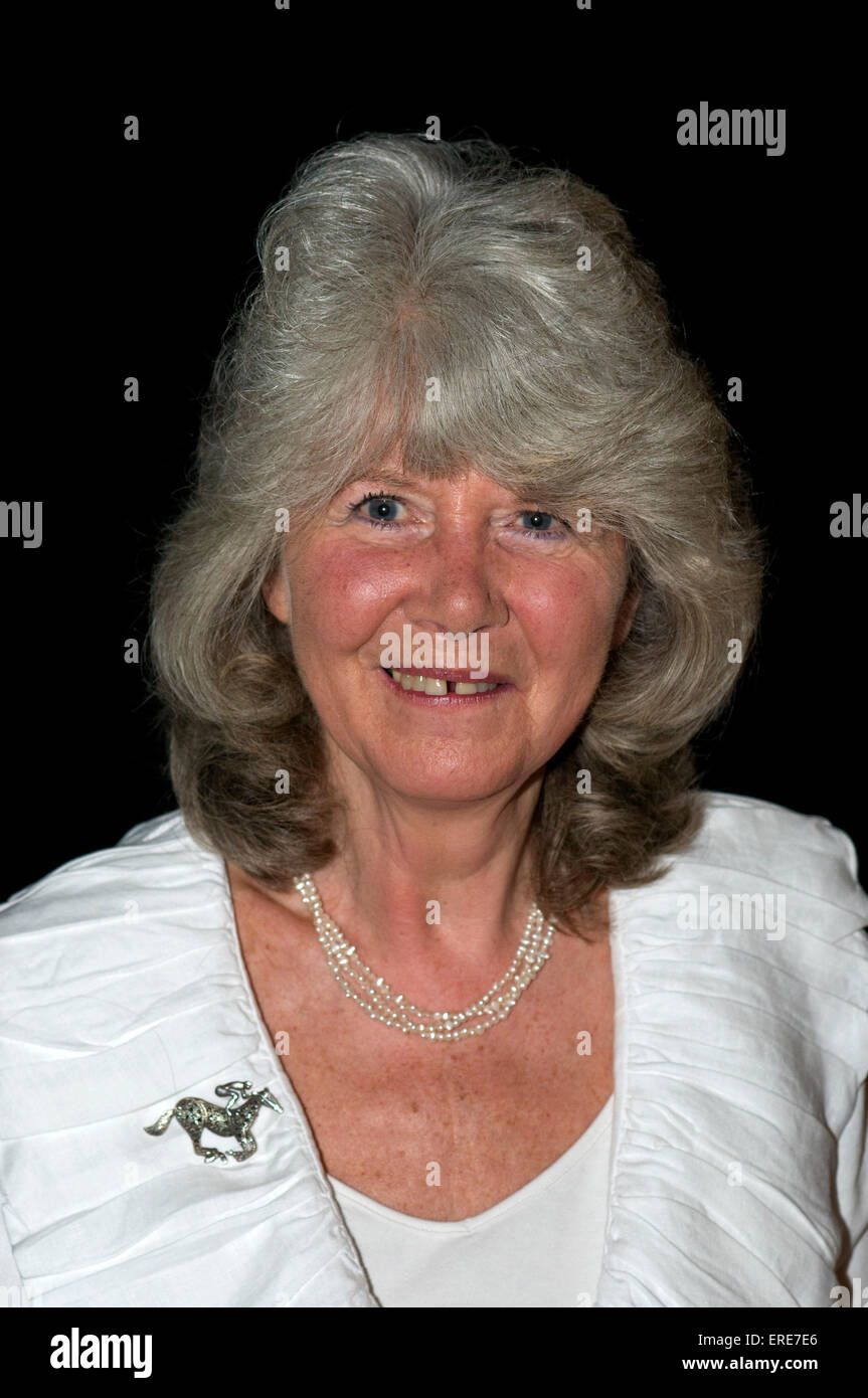 Jilly Cooper OBE at the Cheltenham Literary Festival, Gloucestershire, England, 18 October 2008. JC: English author, - Stock Image