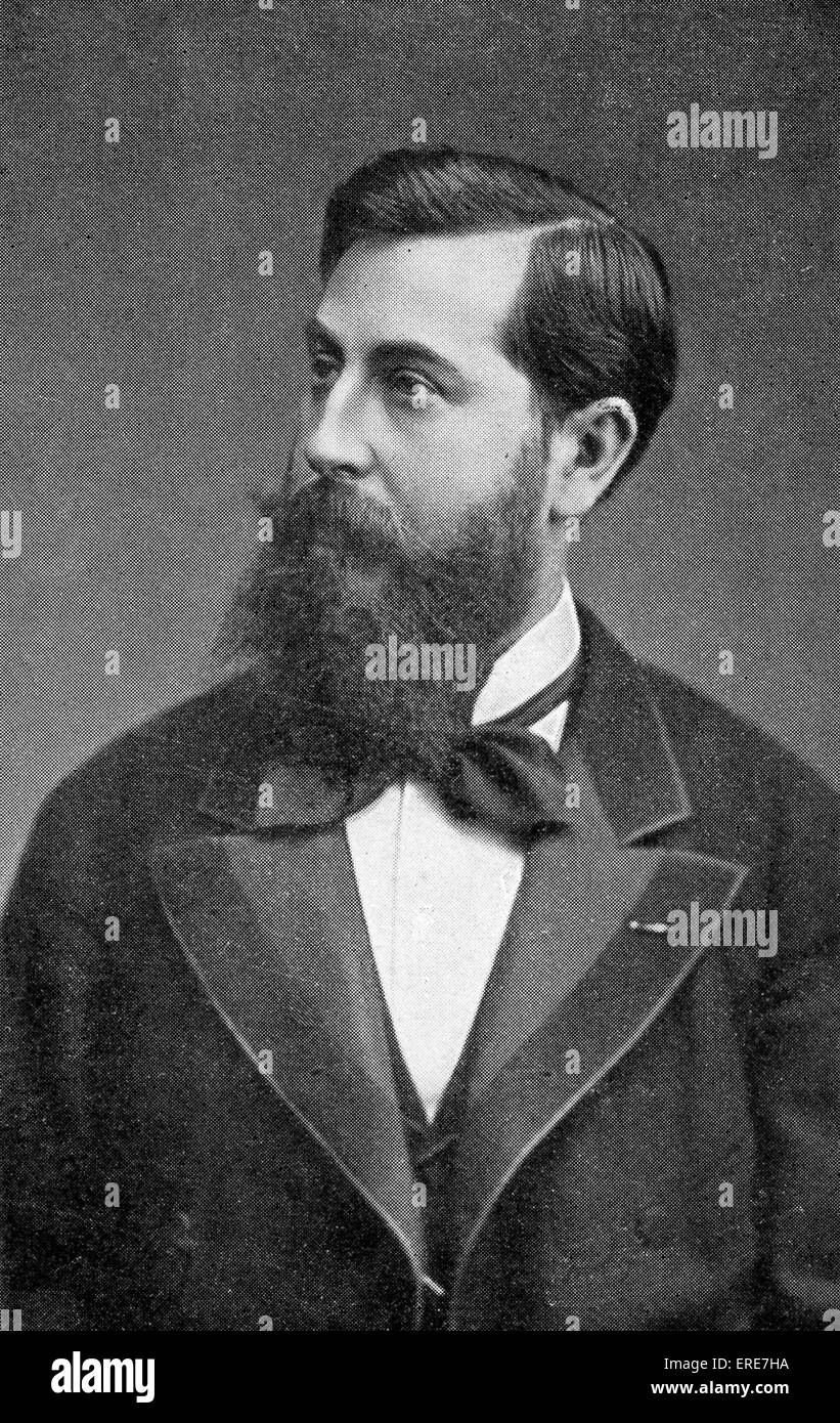 Leo Delibes, French Composer, 1836-1891. - Stock Image