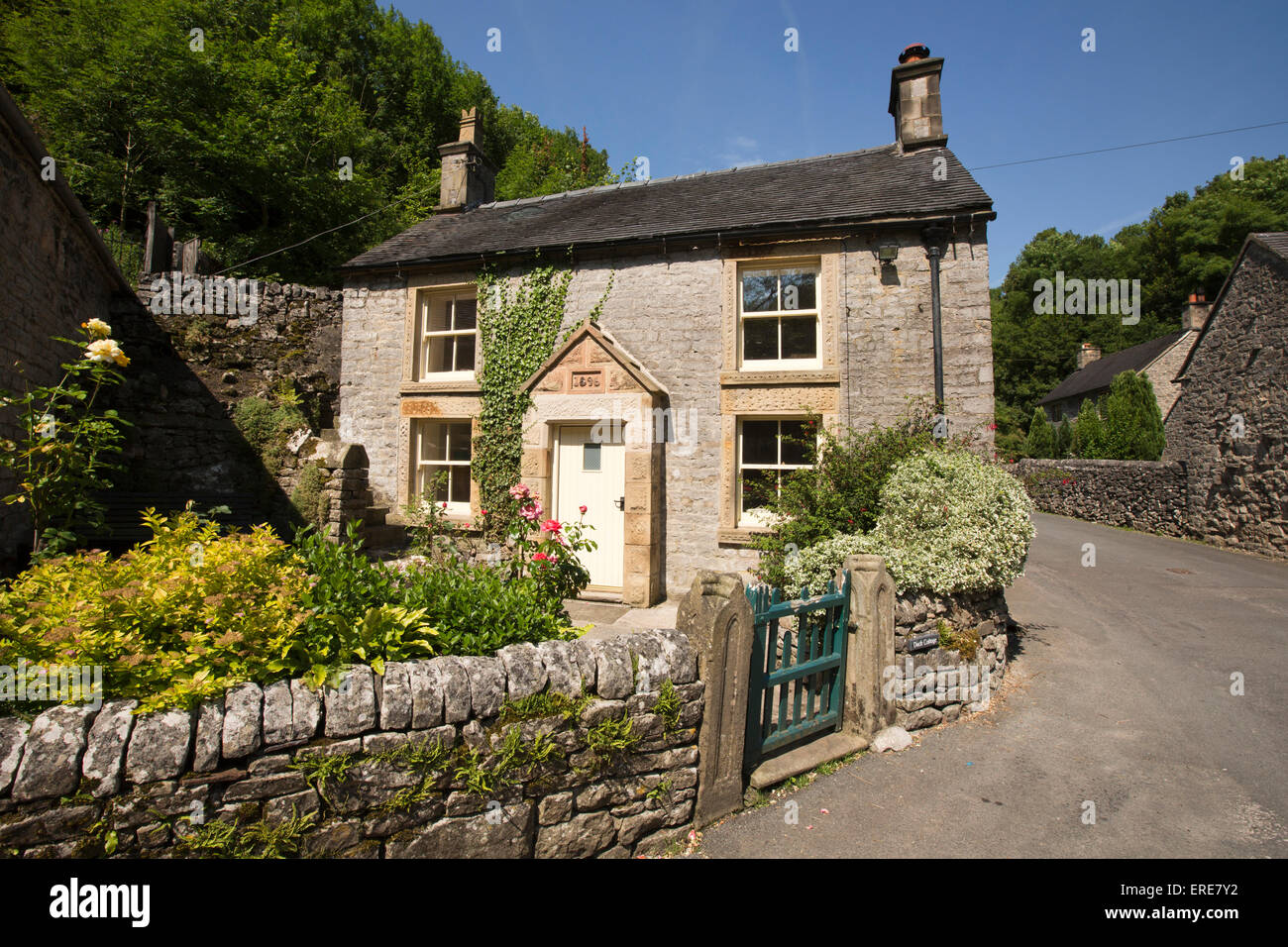 UK, England, Staffordshire, Dovedale, Milldale village, late Victorian cottage Stock Photo