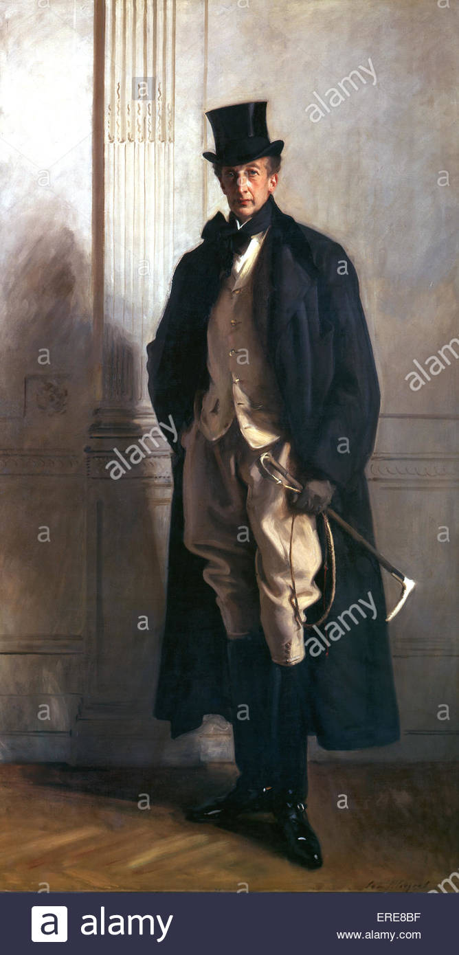 Lord Ribblesdale painting by John Singer Sargent (1856-1925) - Stock Image
