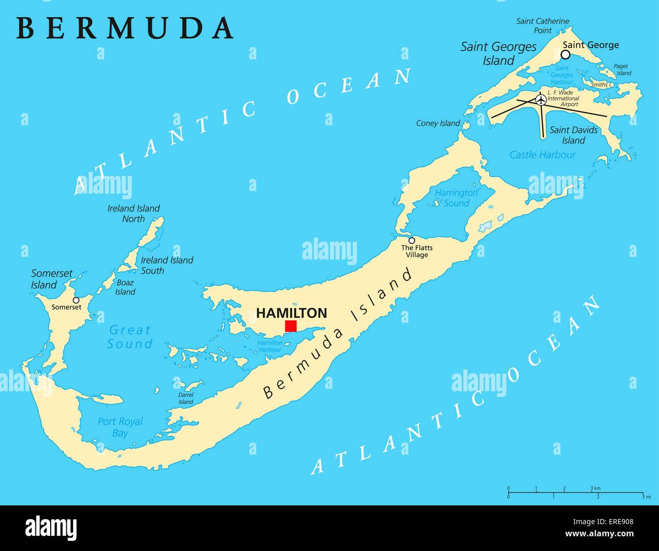Bermuda Political Map Stock Photo: 83292952 - Alamy on south america map, italy map, sudan map, cook islands map, atlantic ocean map, greenland map, ethiopia map, egypt map, angola map, rwanda map, western hemisphere map, algeria map, mozambique map, malawi map, lesotho map, niger map, namibia map, turks and caicos map, morocco map, senegal map, jamaica map, eritrea map, puerto rico map, caribbean map, libya map, madagascar map, brunei map, gibraltar map, mediterranean map, monaco map, ghana map, kenya map, virgin islands map, tunisia map, st. martin map, west indies map, central america map, north america map, zimbabwe map, navassa island map,