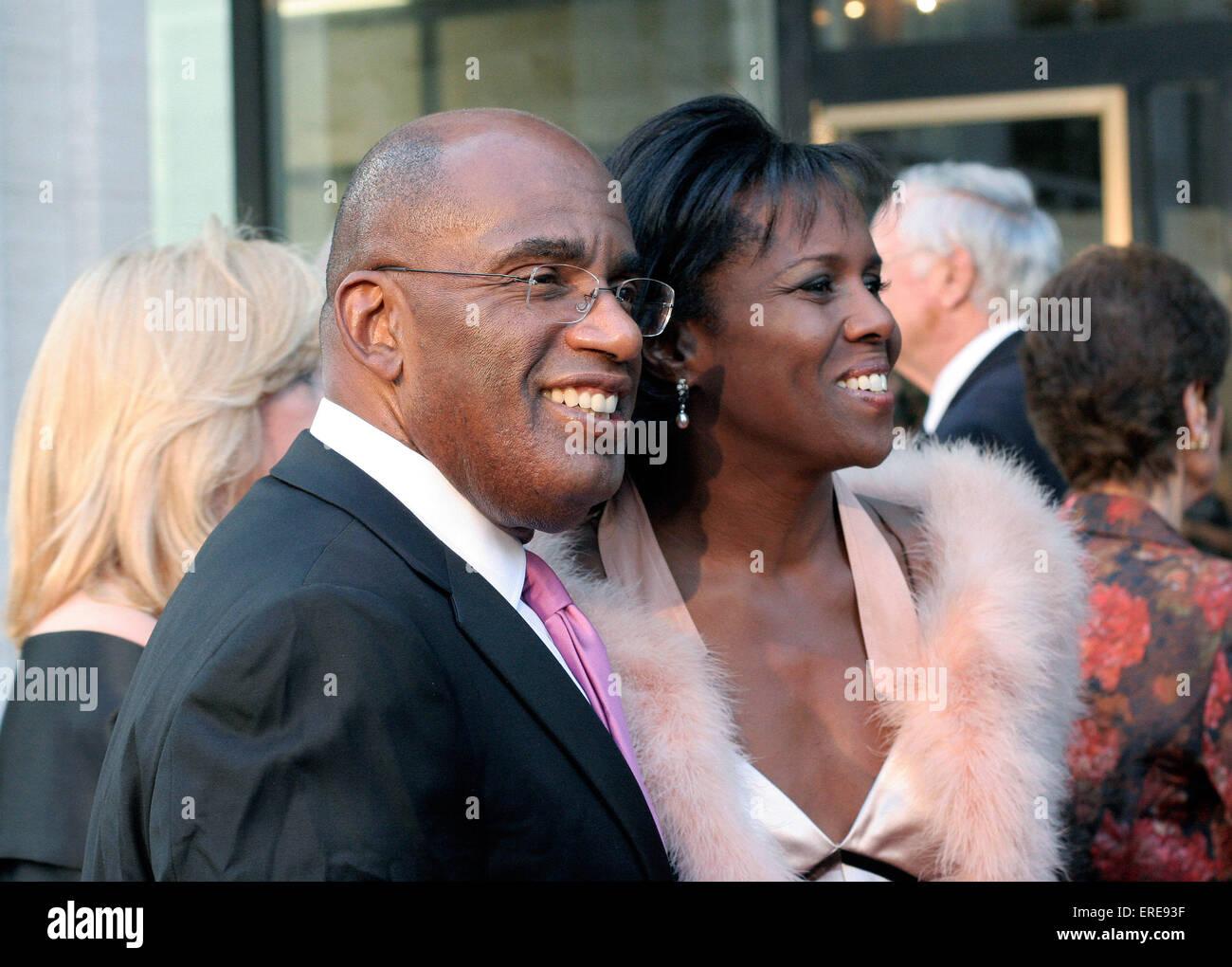 Al Roker With His Wife Deborah Roberts Attend The Metropolitan Opera Stock Photo Alamy