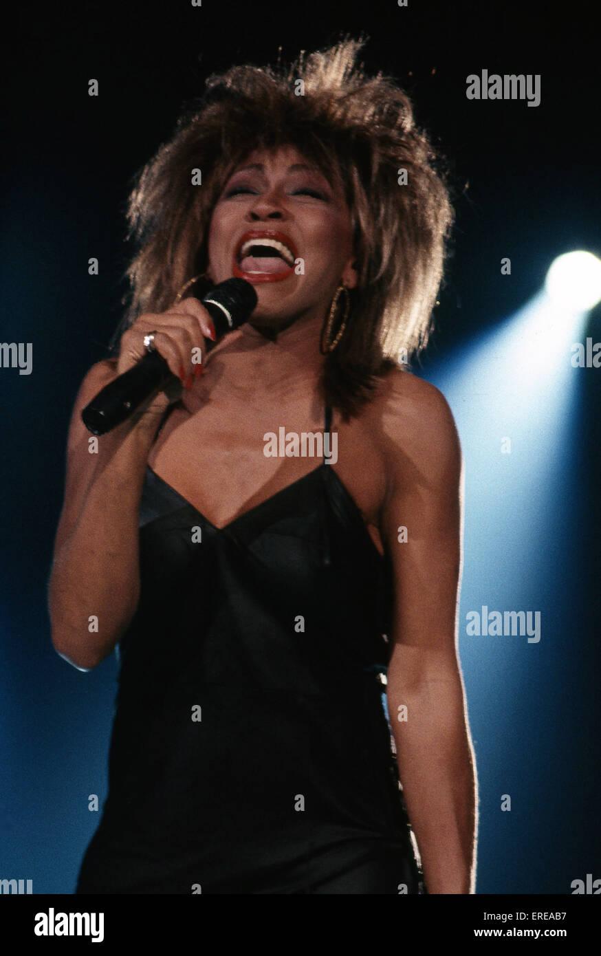 Tina Turner, singing, Los Angeles, USA. American singer, dancer and actress. B November 26, 1939 -. - Stock Image