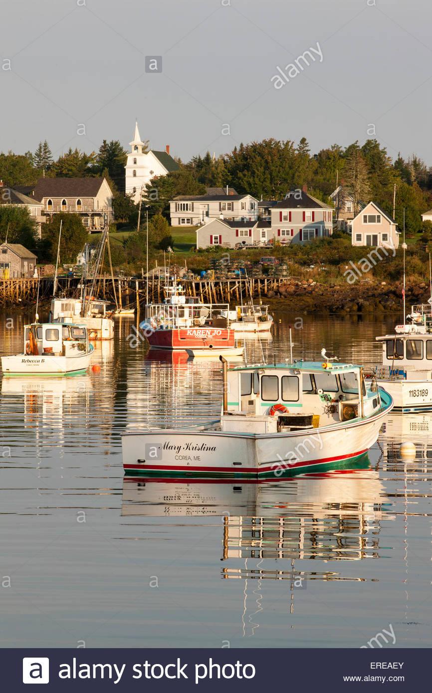 Corea Harbor, Maine - Stock Image
