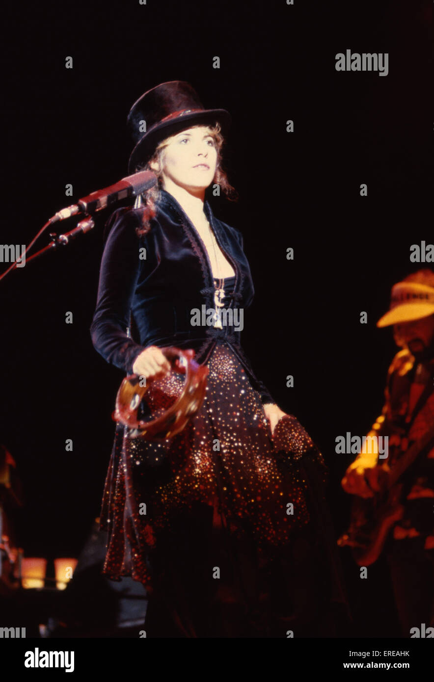 Stevie Nicks Performing In A Top Hat And With A Tambourine