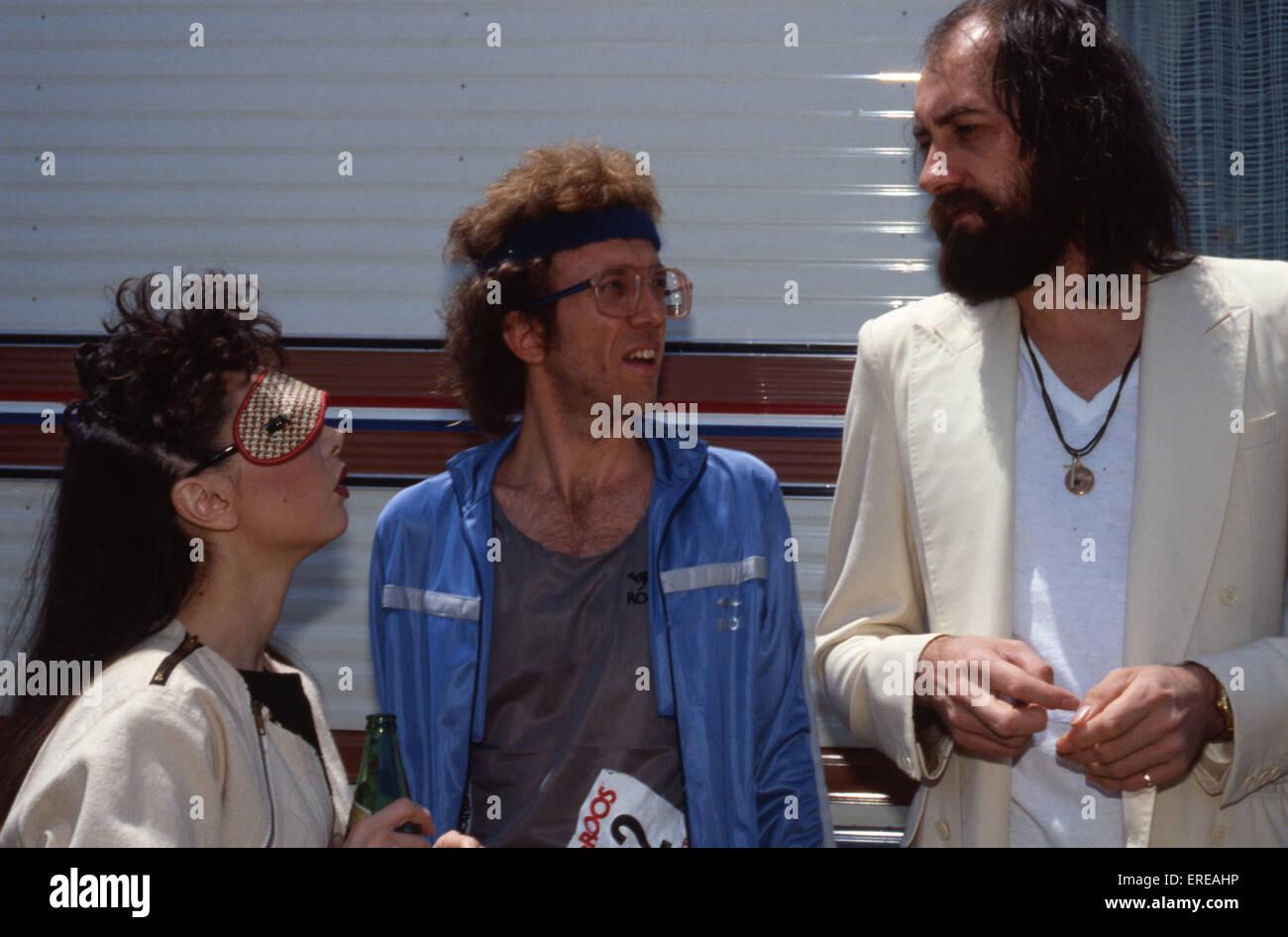 Toni Basil, Bob Welch and Mick Fleetwood in Los Angeles, USA. Toni Basil, American dancer, choreographer, actress - Stock Image