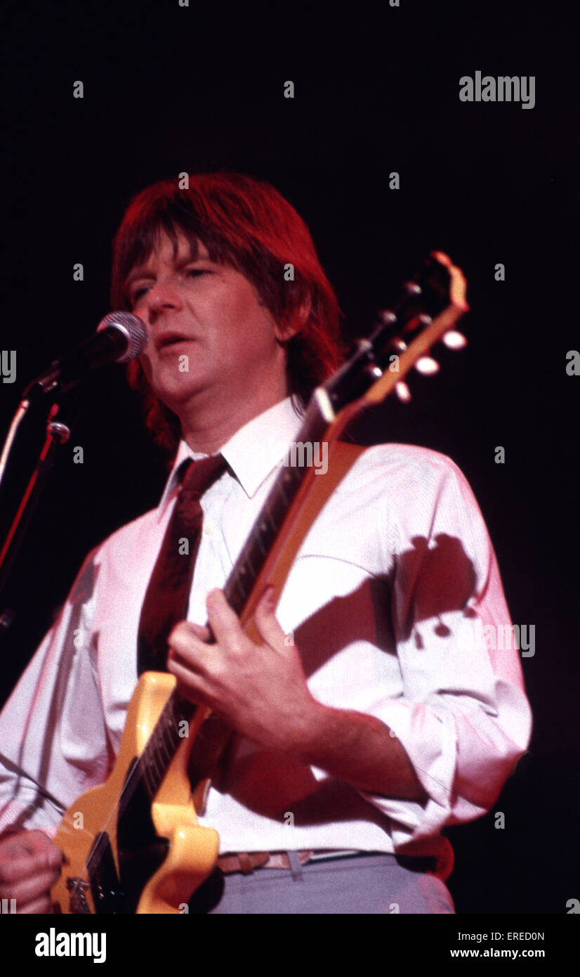 Randy Meisner performing in Los Angeles, USA. American singer, songwriter, guitarist and founding member of the Stock Photo