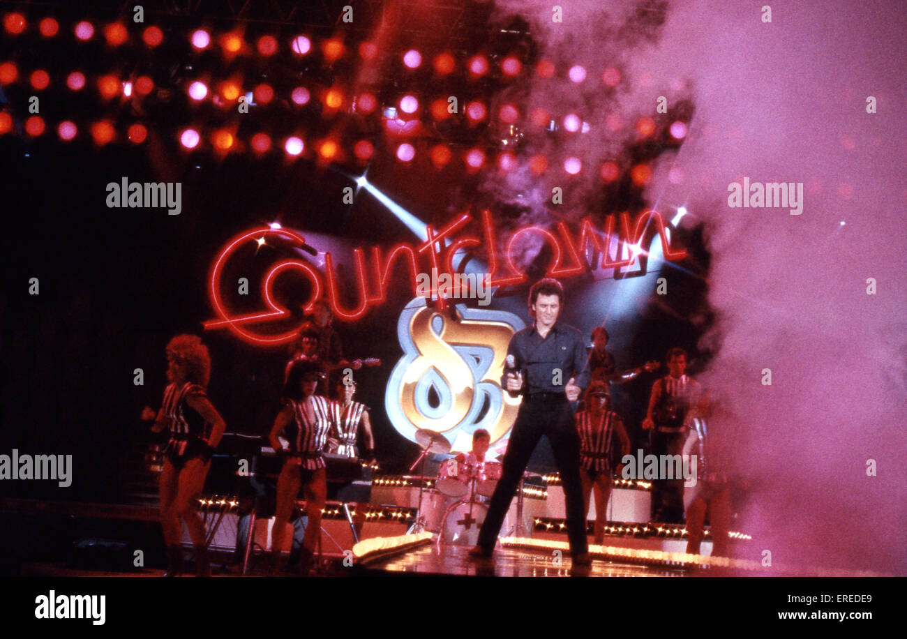 Frank Stallone, performing in Los Angeles, USA. American actor, pop/ rock singer and guitarist, b. July 30, 1950 - Stock Image