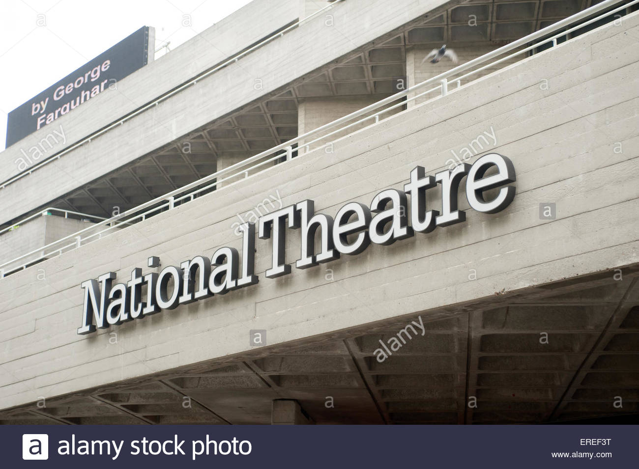 London UK National Theatre on the South bank - Stock Image