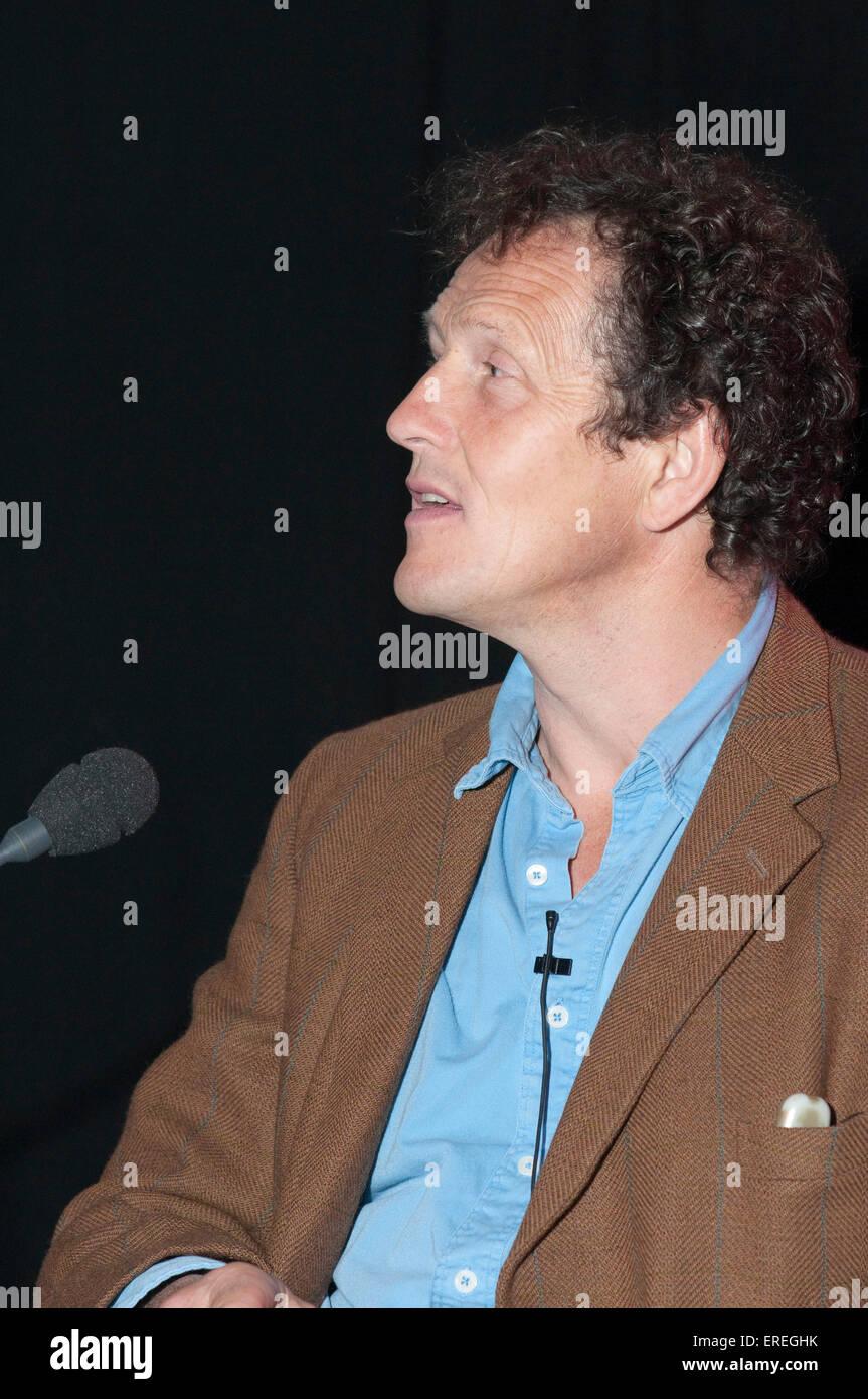 Monty Don at the Cheltenham Literary Festival, 17/10/2009. German-born British television gardener and presenter, - Stock Image