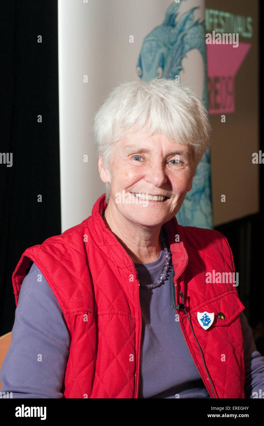 Berlie Doherty at the Cheltenham Literary Festival. 17/10/2009. English novelist, playwright, poet and screenwriter, - Stock Image