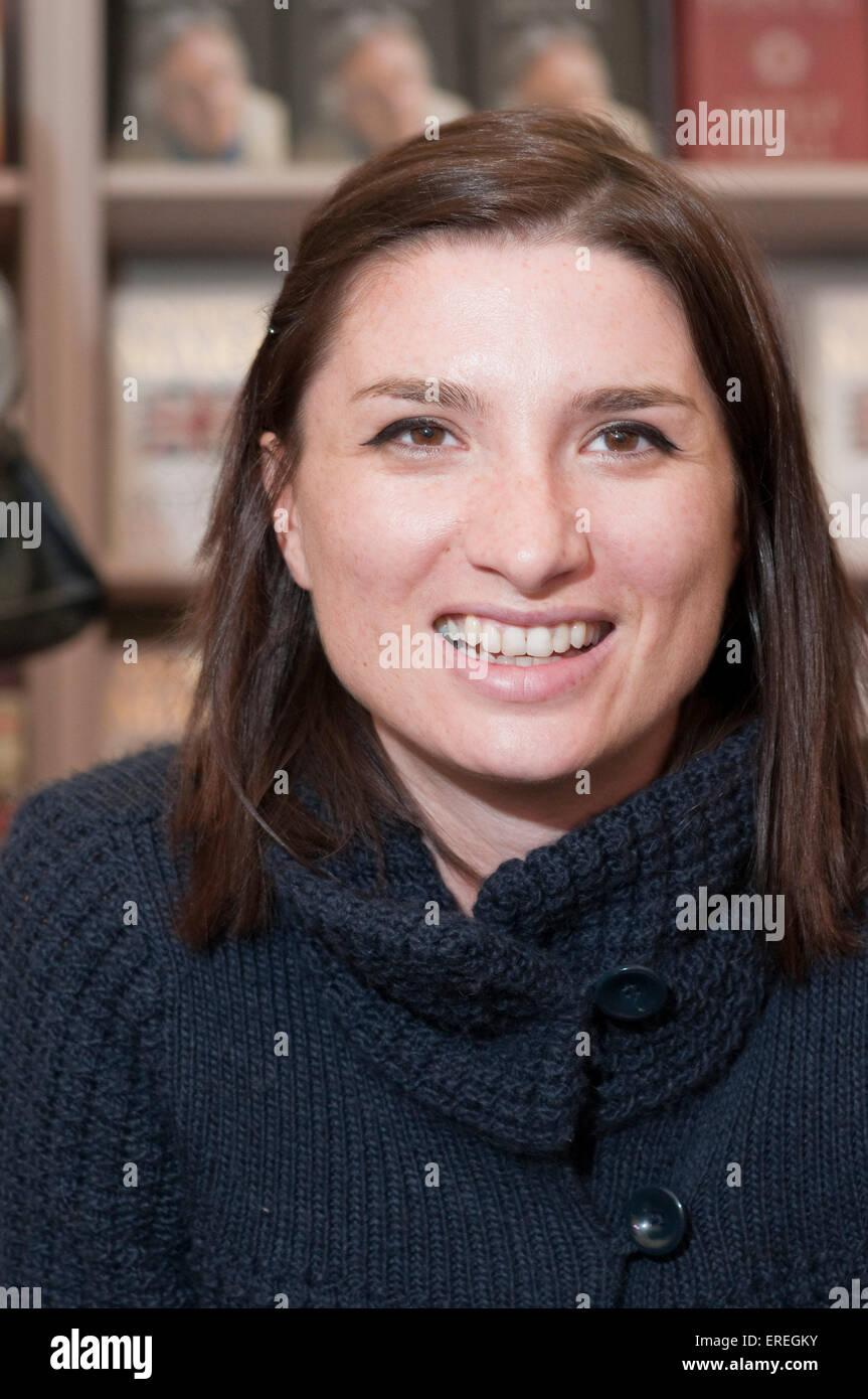 Vesna Maric, at the Cheltenham Literary Festival, 18/10/2009. Bosnian born travel writer, b. 1976-. - Stock Image