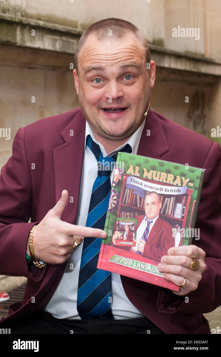 Al Murray at the Cheltenham Literary Festival, 18/10/2009. British comedien best known for his stand-up persona - Stock Image