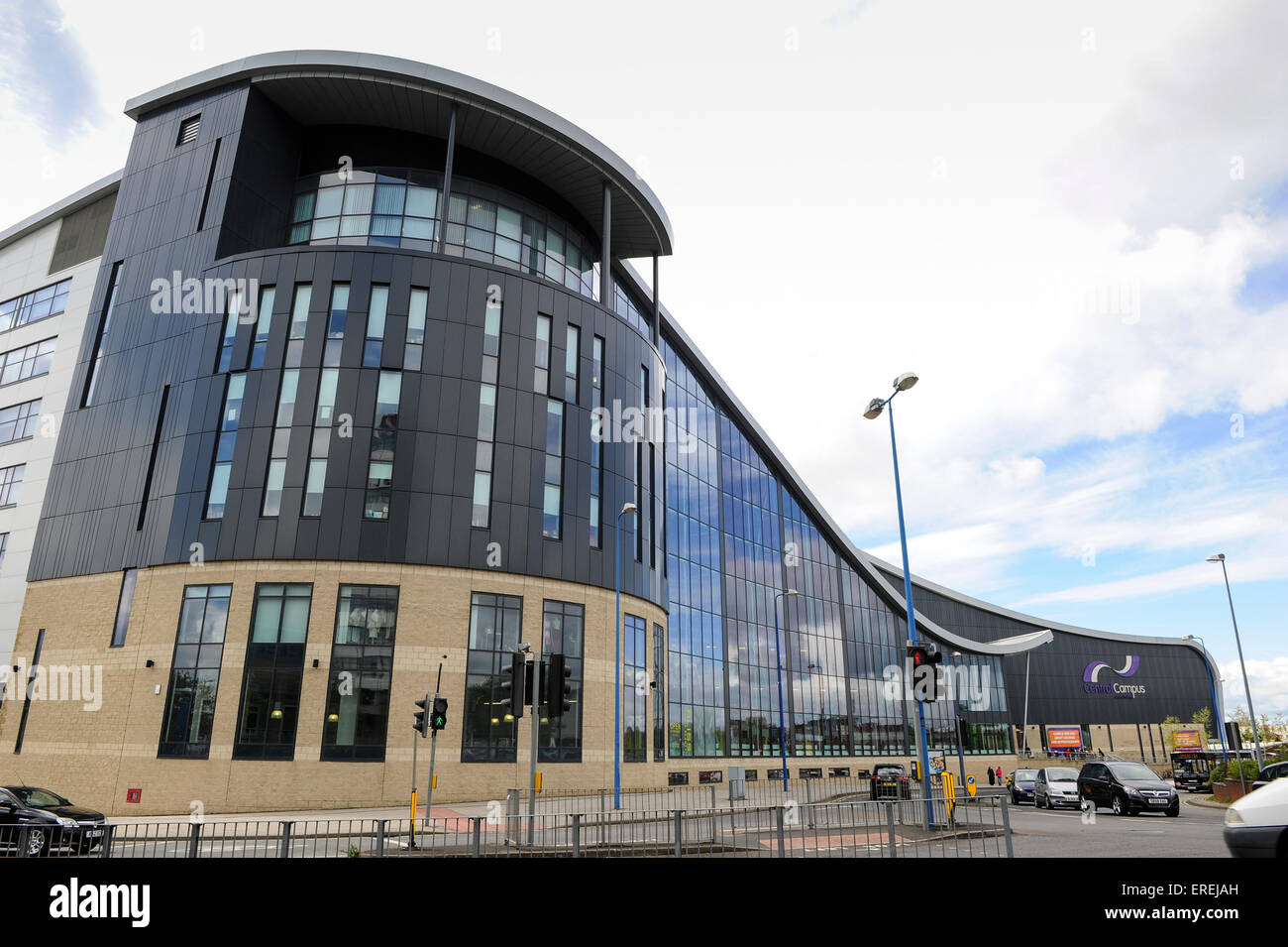 Architectural design of central campus at Sandwell College - Stock Image
