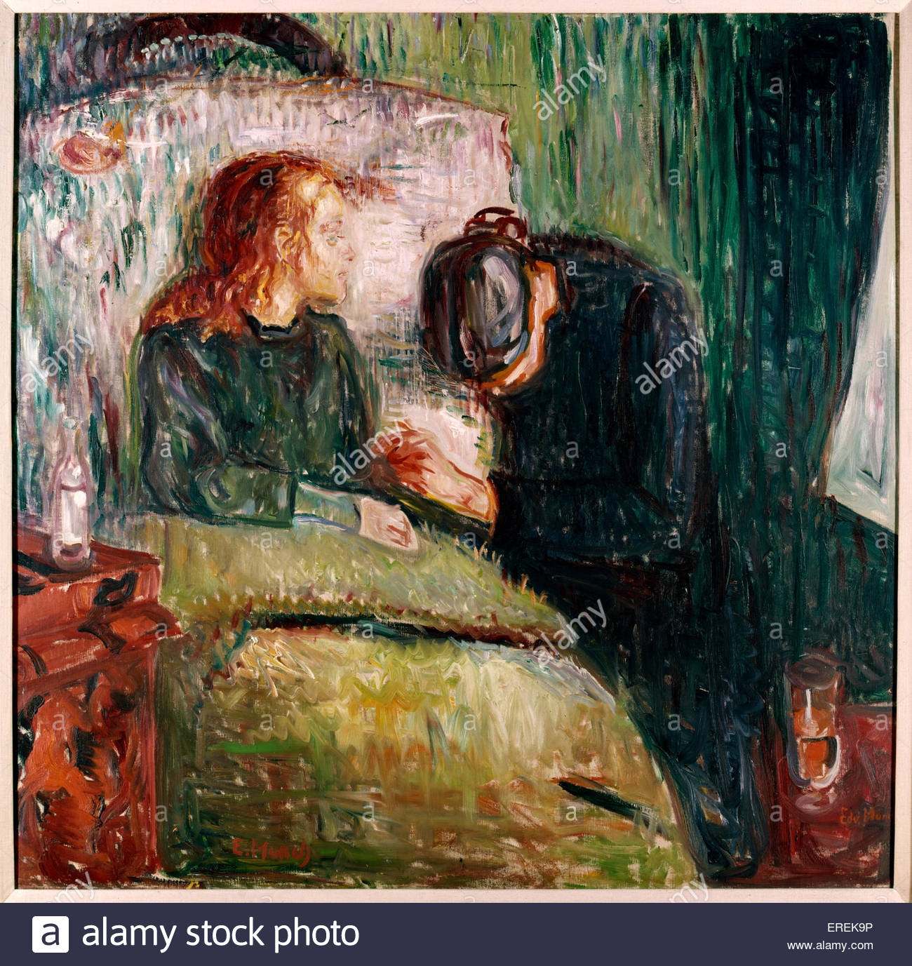 The Sick Child  (Det syke barn) by Edward Munch. Oil on canvas, 1907. (Tate Collection). - Stock Image