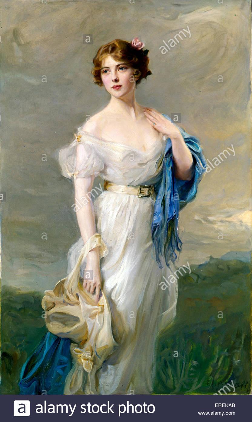 Lady Zia Werhner. Artist thought to be Lassio. No further information available.(Countess Anastasia Mikhailovna - Stock Image