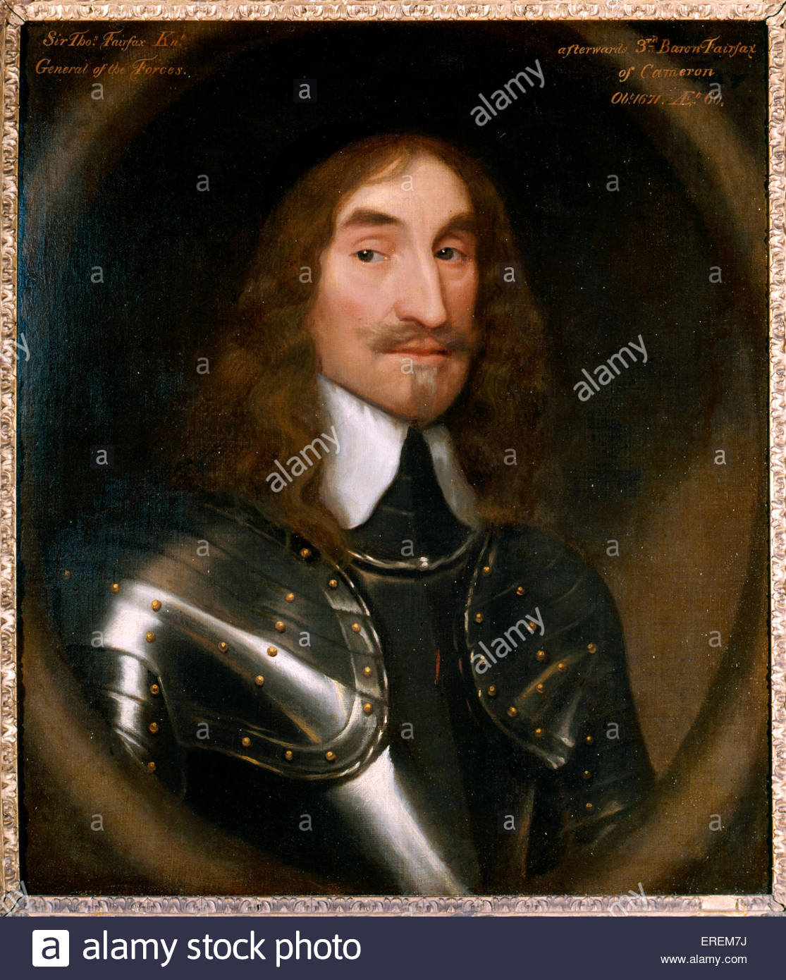 Thomas Fairfax, 3rd Lord Fairfax of Cameron (1612 – 1671).General and parliamentary commander-in-chief during  English - Stock Image