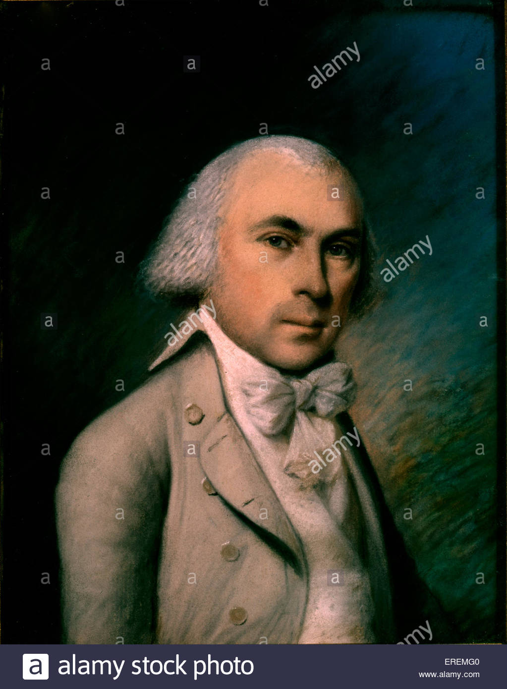 James Madison by James Sharples. 4th President of the United States of America from 1809 to 1817, Founding Father - Stock Image