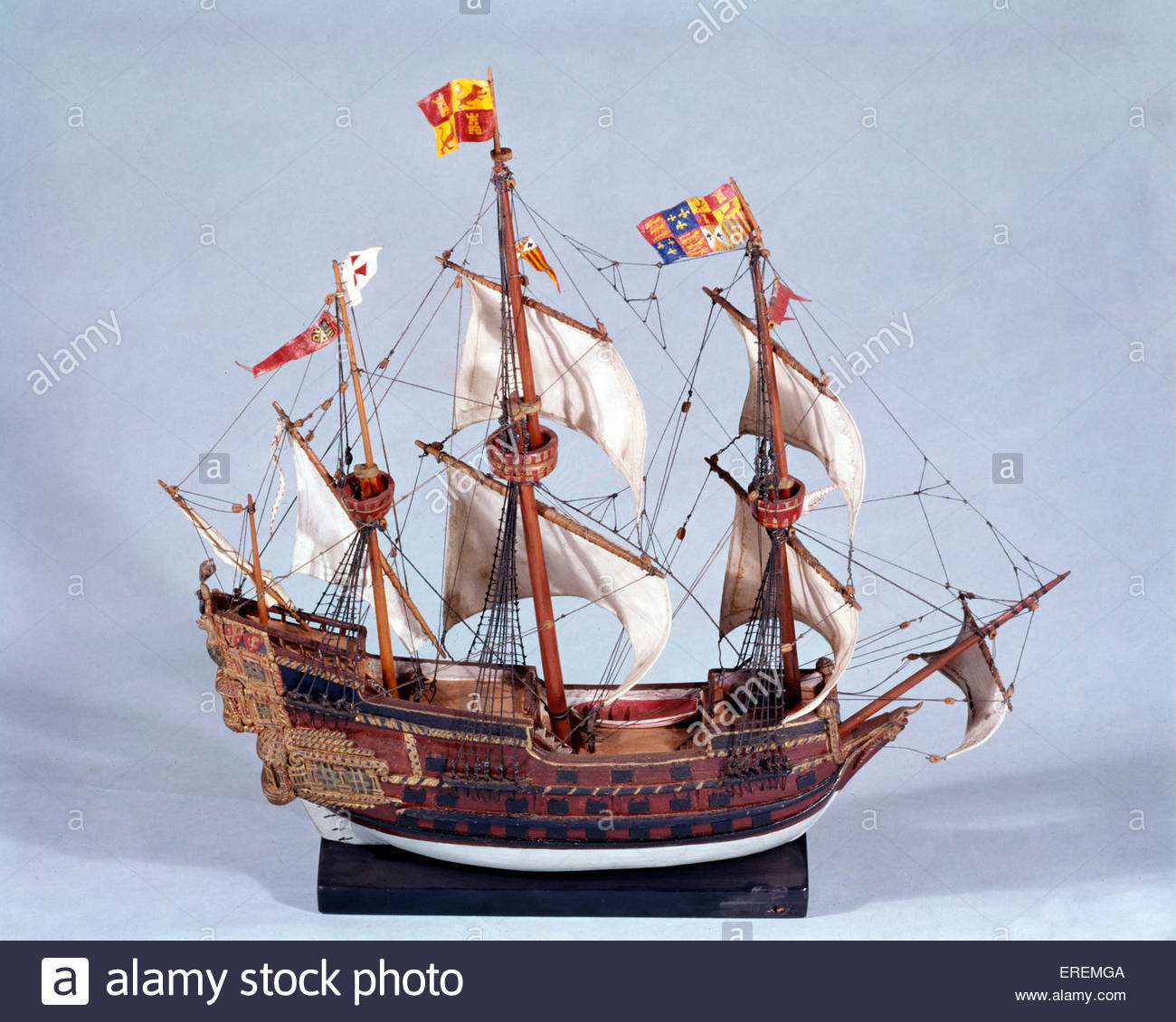 Galleon 16th century stock photos galleon 16th century stock spanish galleon san martino model of flagship of the spanish armada 1588 courtesy publicscrutiny Choice Image