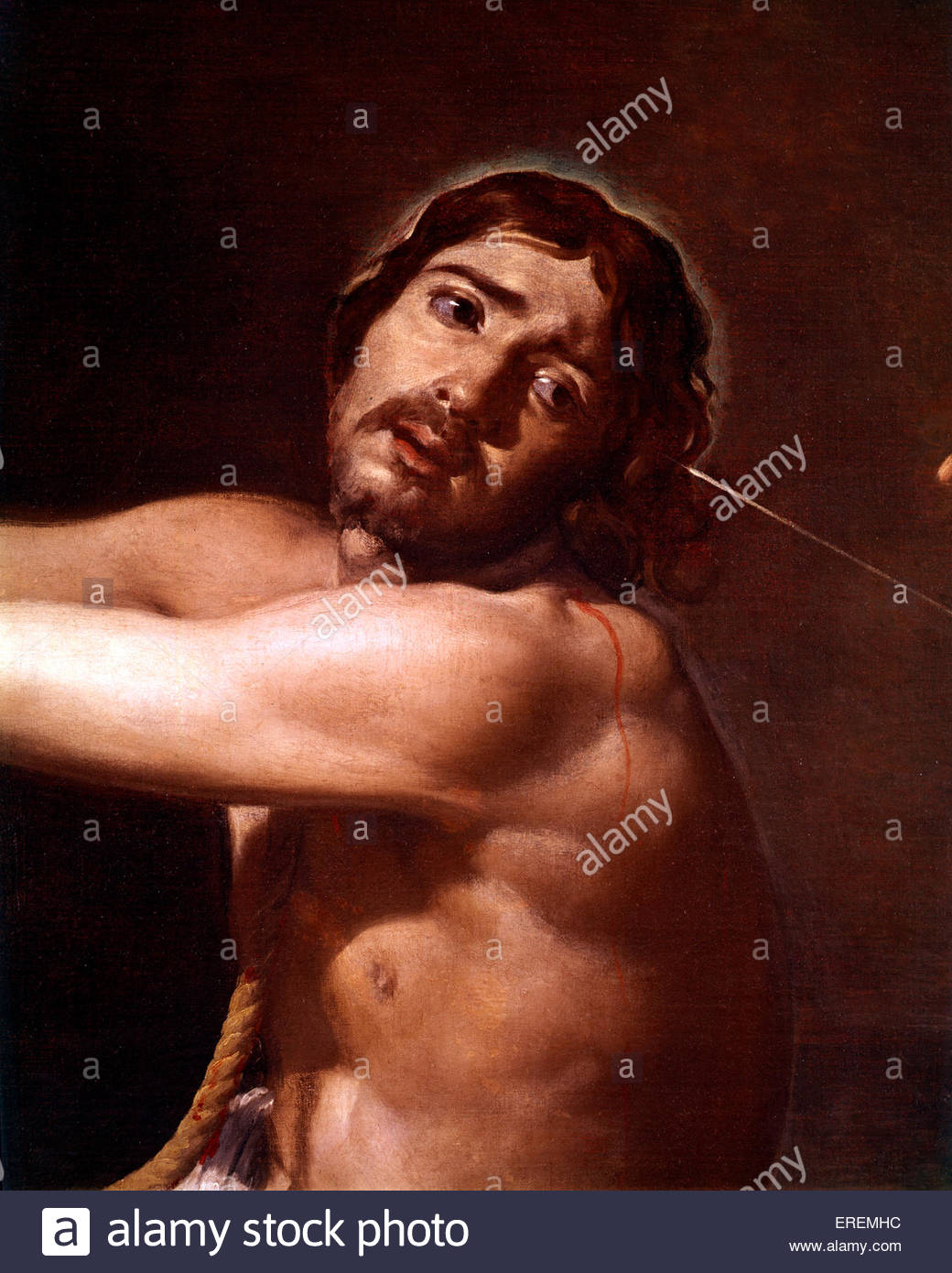 Christ after the Flagellation contemplated by the Christian Soul by Diego Velázquez', probably 1628-29 - Stock Image