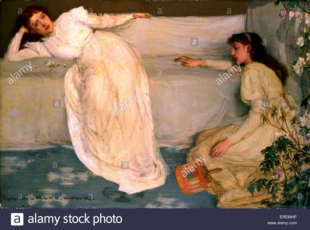 Symphony in White, No. III  by James Abbott McNeill Whistler,1865- 67. American- born British painter, 11 July 1834 - Stock Image