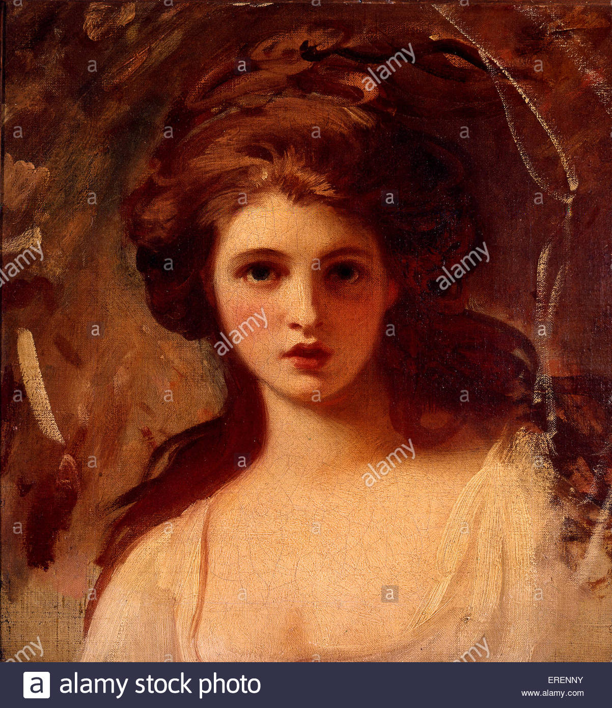 Lady Hamilton as Circe by George Romney, circa 1782.  Oil on canvas; support: 533 x 495 mm. GR: English portrait - Stock Image