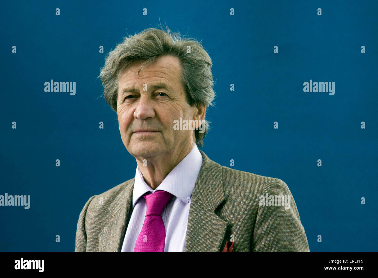 Melvyn Bragg, English author, broadcaster, and media personality talked about his book the 'Final Cut' at - Stock Image