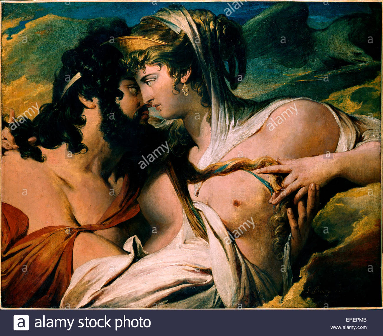 Juno and Jupiter on Mount Ida by James Barry, 1790-1799. Oil on canvas. JB: Irish painter, 11 October 1741 – 22 - Stock Image