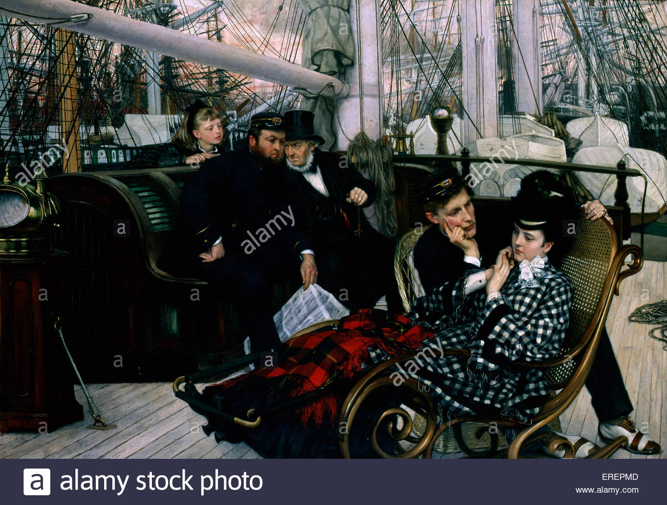 The Last Evening by James Tissot, 1873. Oil on canvas. JT: French painter, 15 October 1836 – 8 August 1902. Courtesy - Stock Image