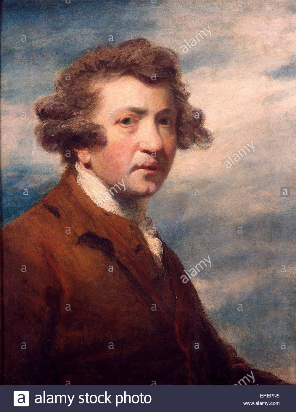 Self portrait of Sir Joshua Reynolds, JR: English painter 16 July 1723 – 23 February 1792. - Stock Image