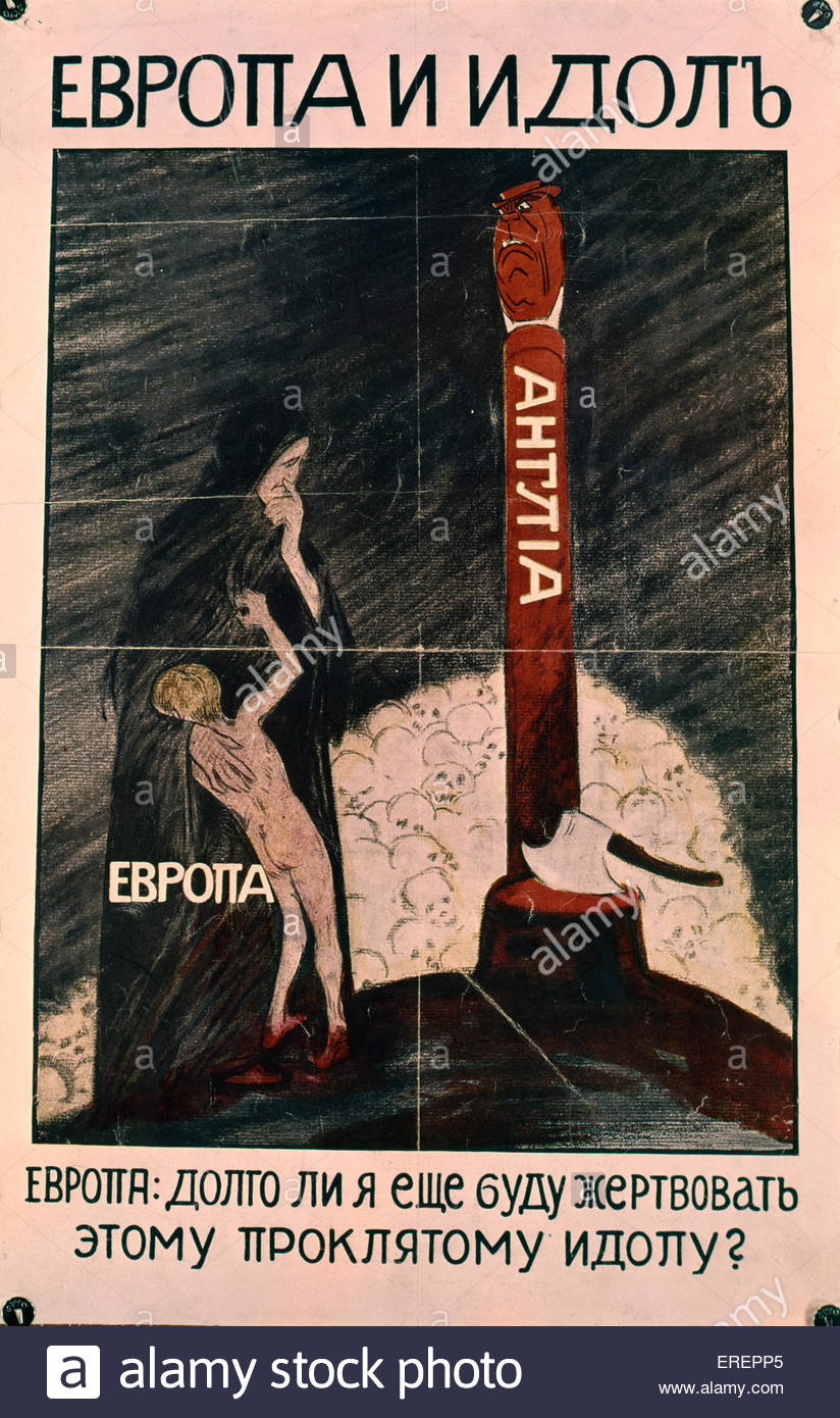 Russian War Poster - Stock Image