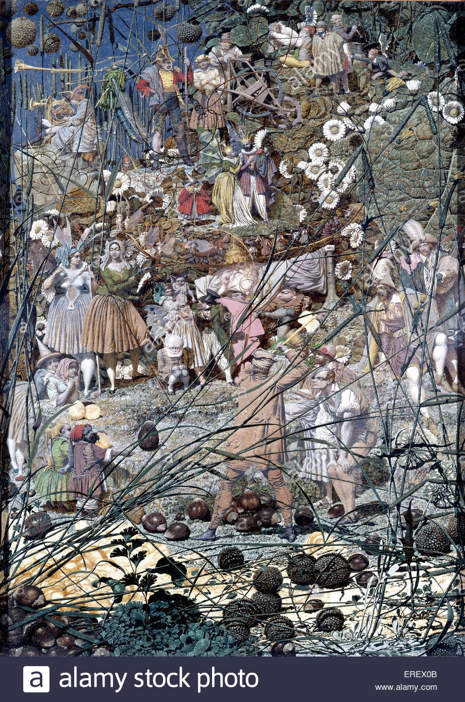 The Fairy Feller's Master-Stroke by Richard Dadd, 1855 - 64.  Oil on canvas  540 x 394 mm (support). Painting - Stock Image