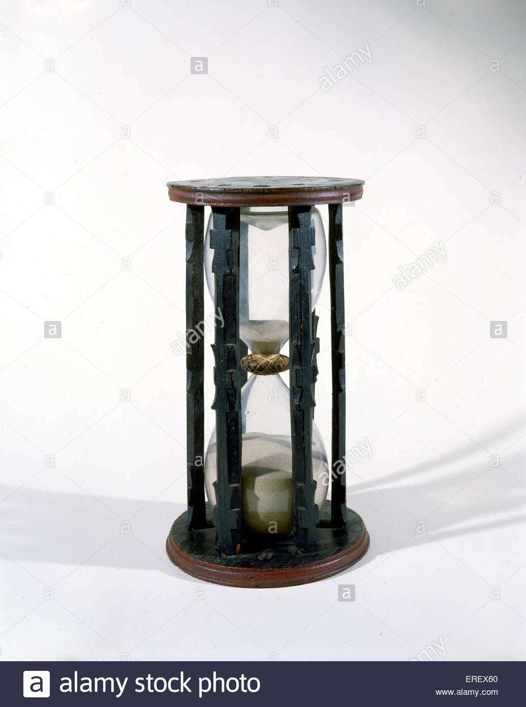 Ship 's hour glass - basic timepiece for ships in 15th/16th century - Stock Image