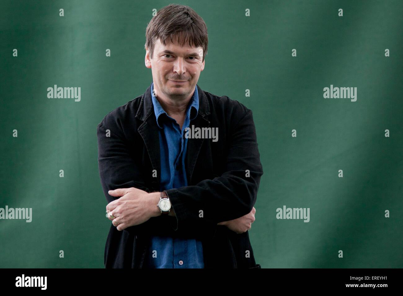 Ian Rankin at the Edinburgh International Book Festival 2011. Scottish crime writer, best known for his Inspector - Stock Image