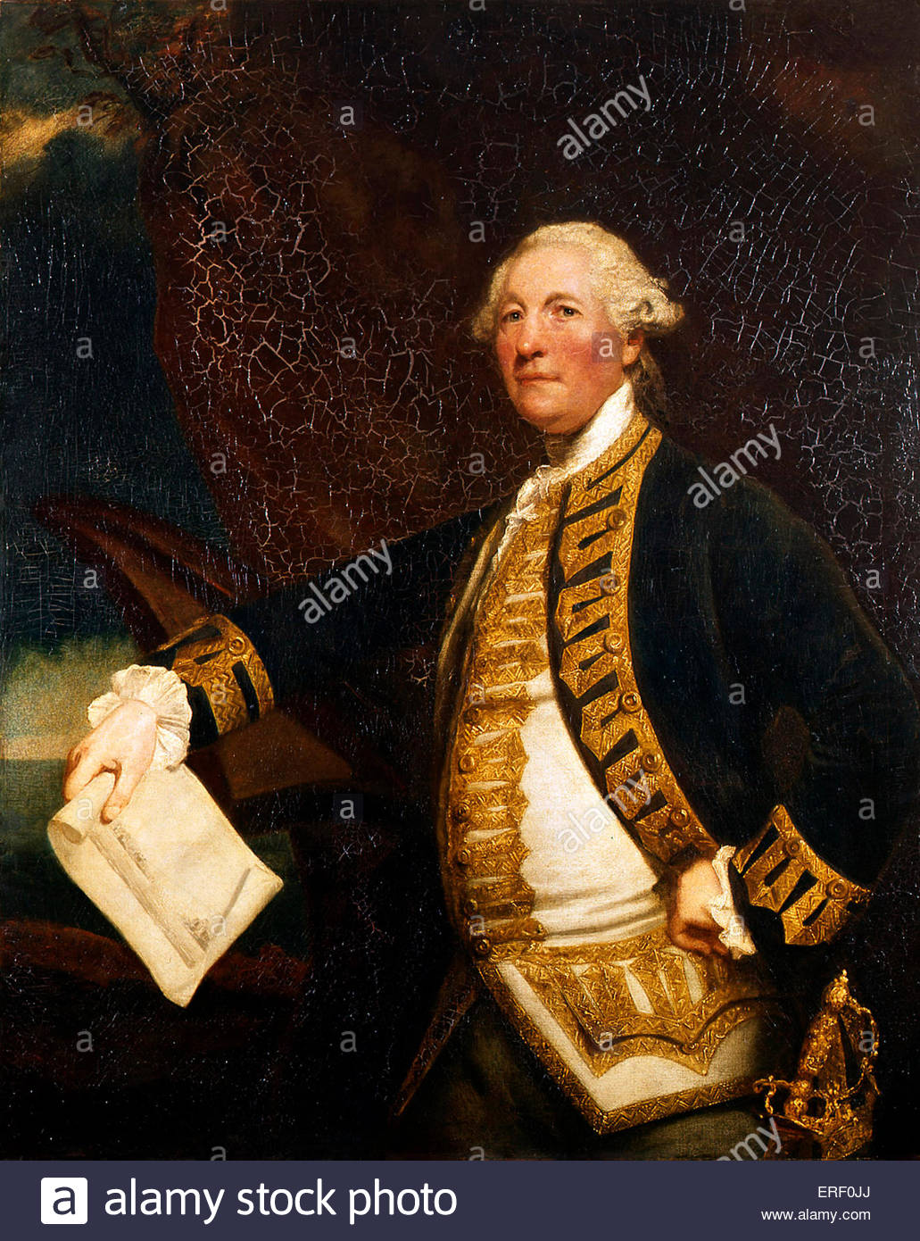 Commodore Sir William James by Joshua Reynolds, 1784. Oil on canvas, 1270 mm x 1015 mm. WJ: Sir William James, 1st - Stock Image