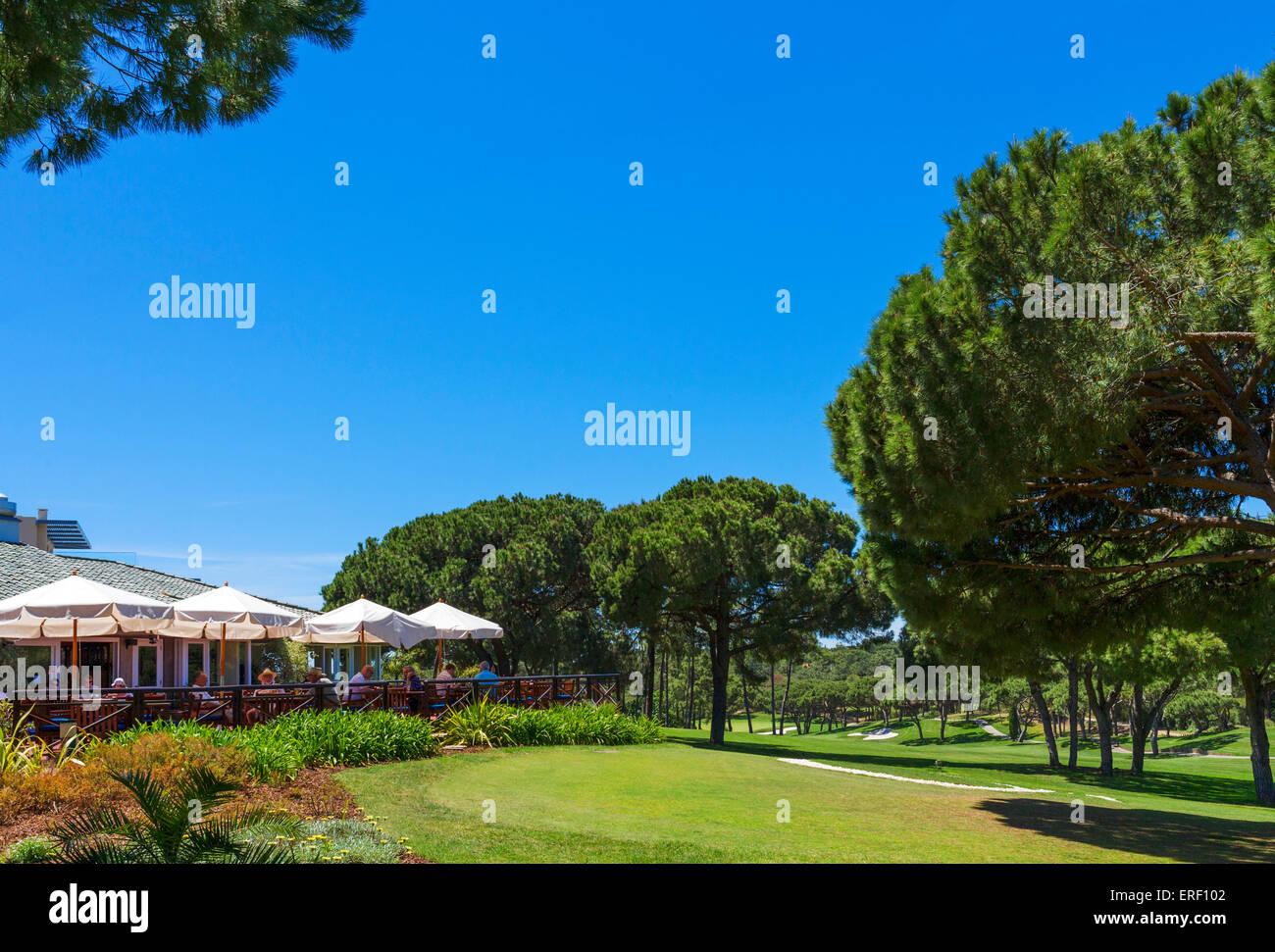 Clubhouse on the South Course near Vilar do Golf, Quinta do Lago, Algarve, Portugal - Stock Image