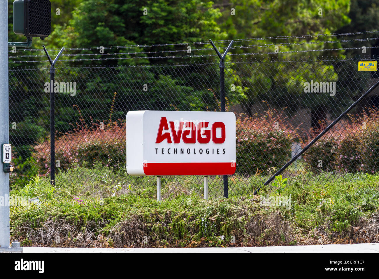 Avago Technologies is buying chip maker Broadcom Stock Photo