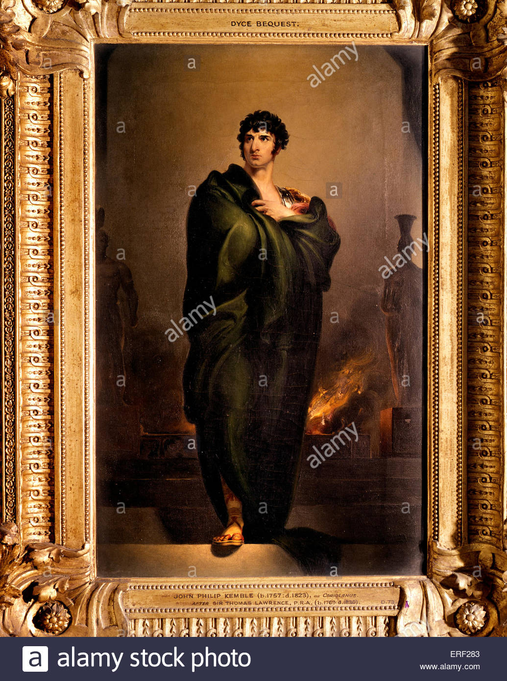 John Philip Kemble as Coriolanus by Sir Thomas Lawrence 1802..    English actor 1 February 1757 – 26 February 1823 - Stock Image