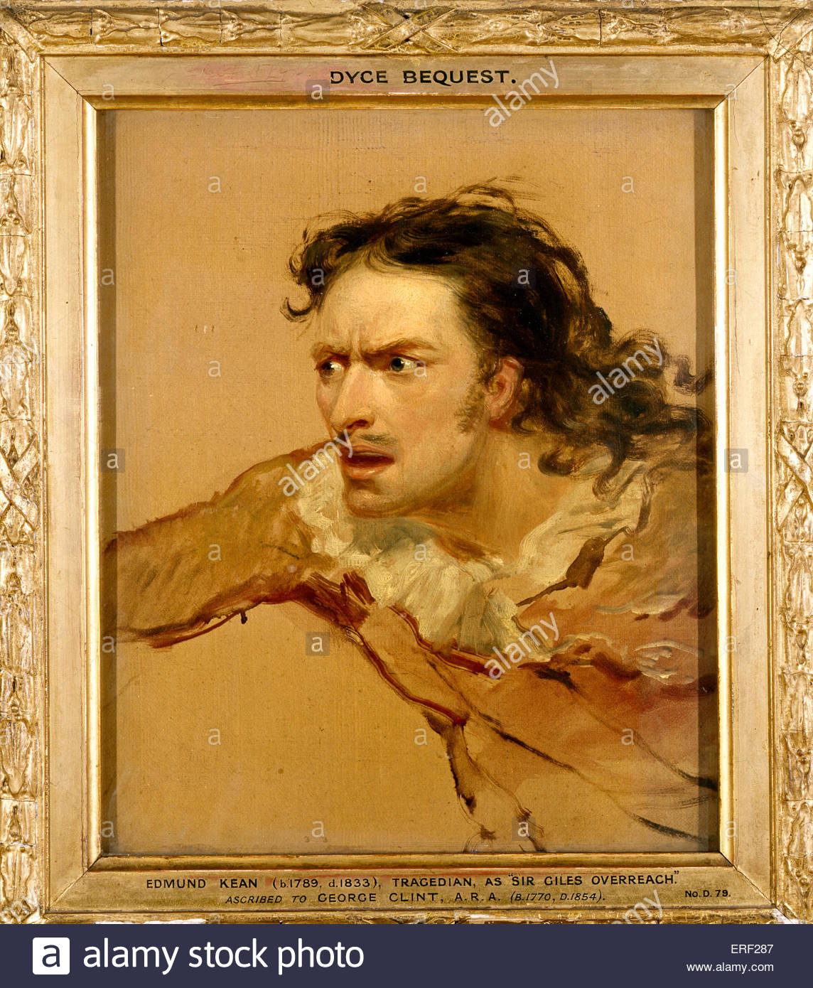 Edmund Kean as 'Sir Giles Overreach'. English actor and tragedian 1787 - 1833. Play by  Philip Massinger - Stock Image