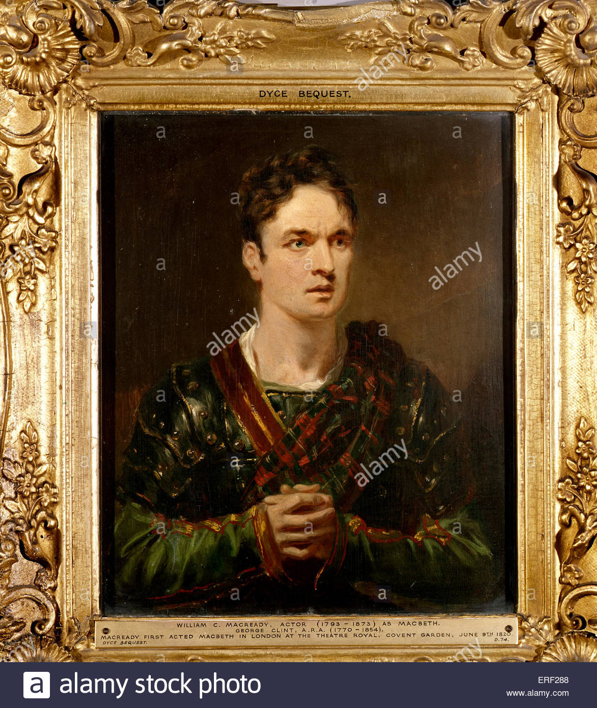 William C Macready as Macbeth by George Clint. 3 March 1793 – 27 April 1873 - Stock Image