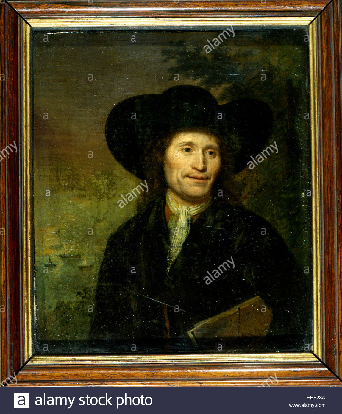 Self - portrait by Willem Velde. Painting. Dutch painter. - Stock Image