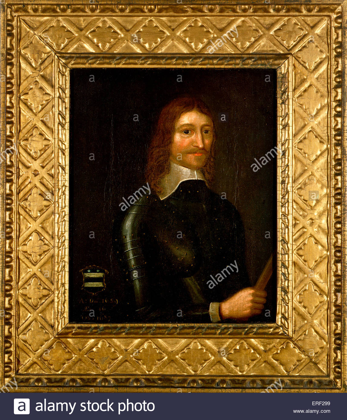 Robert Venables - portrait by unknown artist. Soldier (lieutenant-colonel)  in Oliver Cromwell's parliamentary - Stock Image