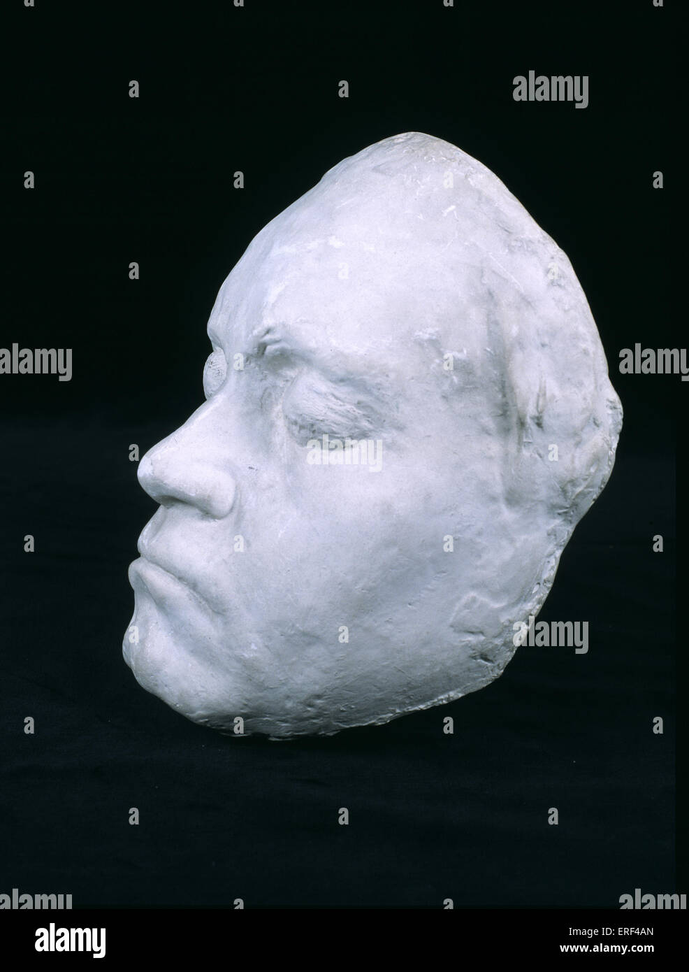 Ludwig van Beethoven 's life mask made in 1812 while Beethoven was working on 7th Symphony.  Mould made by Franz - Stock Image