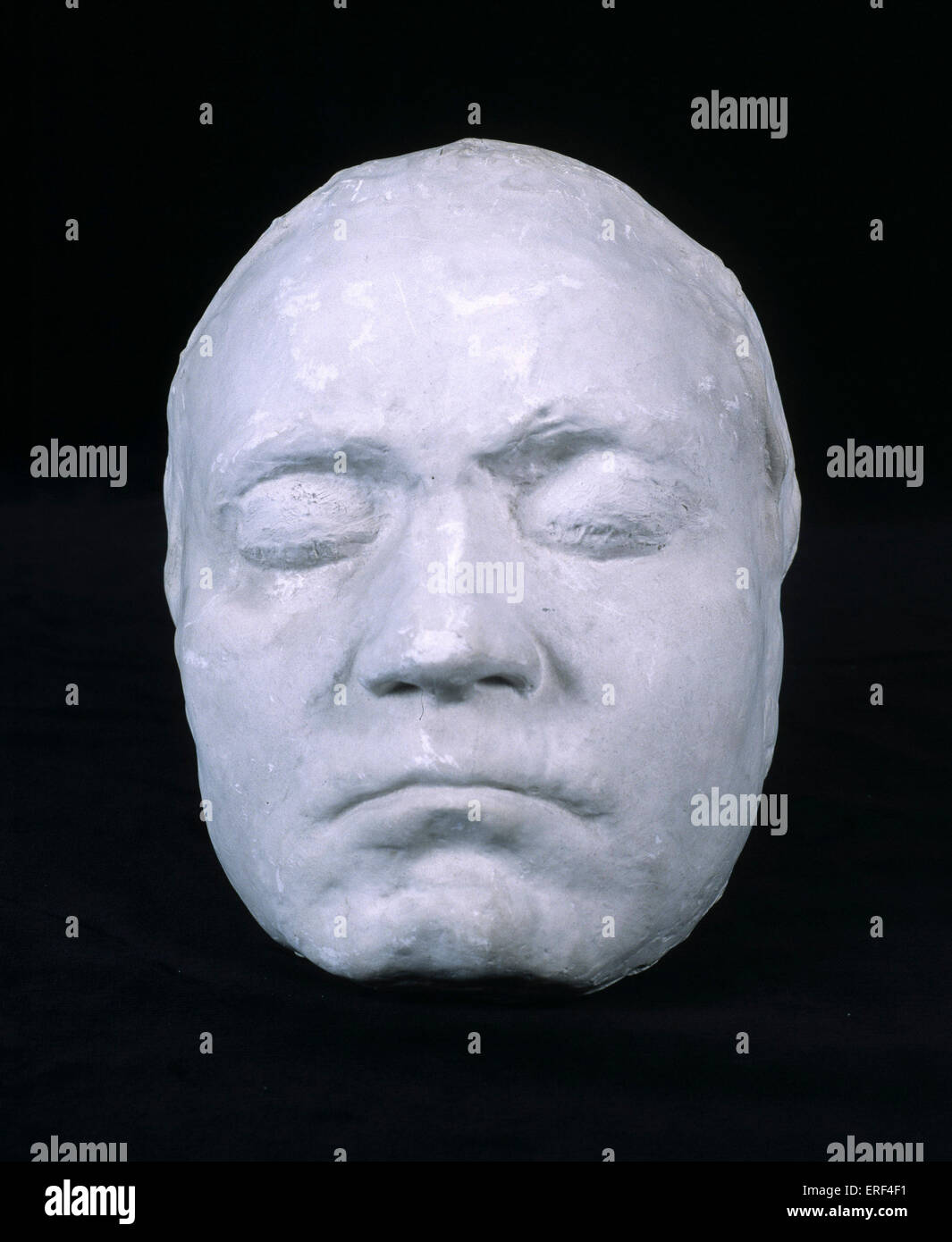 BEETHOVEN, Ludwig van - Life Mask made in 1812 while B was working on 7th Symphony.  Mould made by Franz Klein. Stock Photo