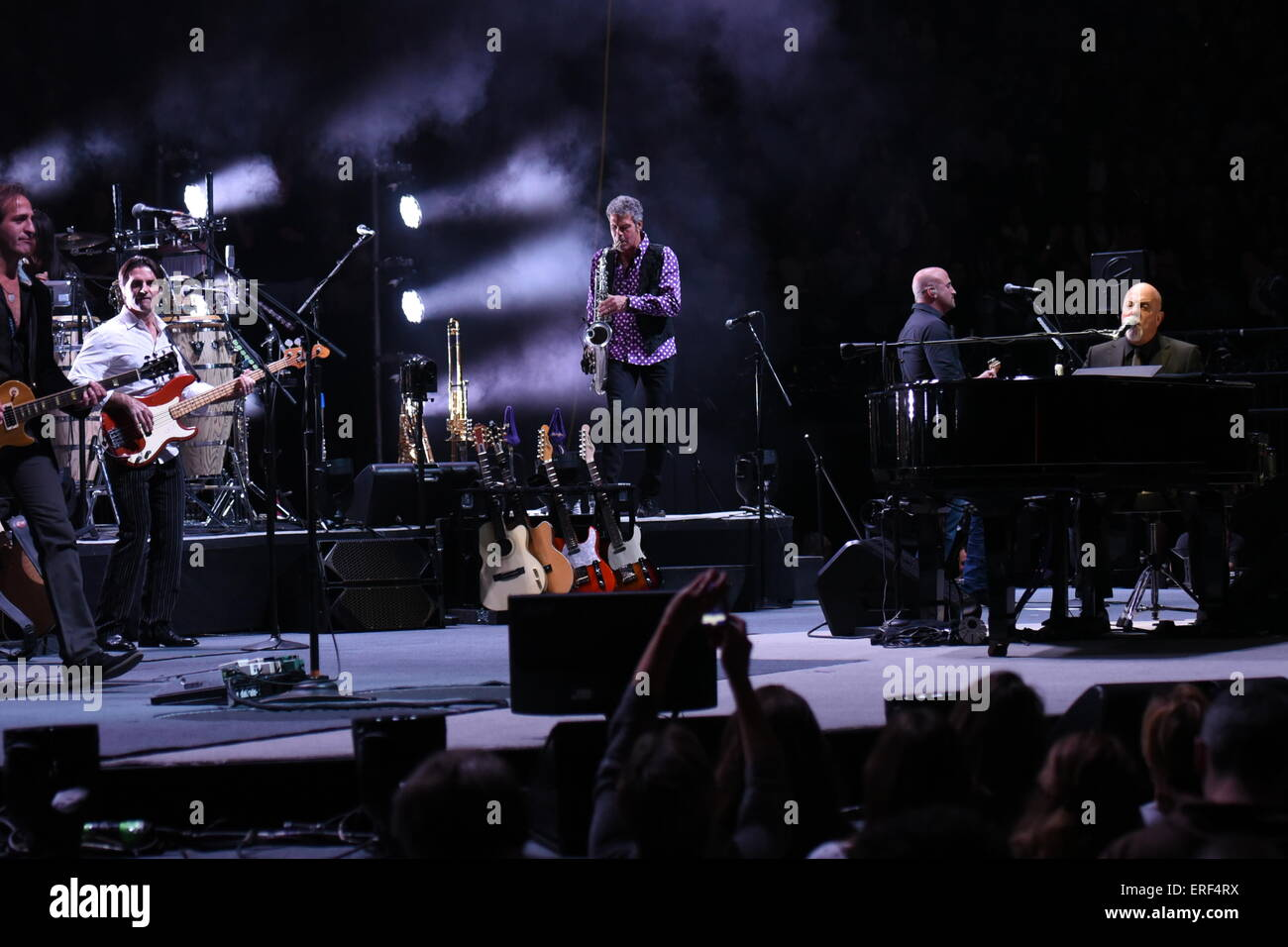 Billy Joel Performing His Record Breaking Concerts At Madison Square Garden  In NYC Featuring: Billy Joel Where: Manhattan, New York, United States  When: 26 ...